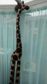 82 inch high wooden giraffe