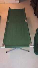 Fold away camp bed