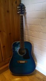 ARIA AW-20 Dreadnought Acoustic Guitar and Hard Case