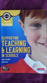 Supporting Teaching & Learning in Schools, Level 2 and 3 by Louise Burnham. Both in great condition