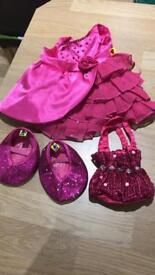 Build a bear dress shoes & bag