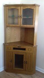 Corner display cabinet as new