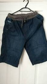 Boys denim shorts size 13-14 excellent condition