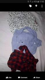 Boys designer shirts 12-18 mamma and Pappas baby k