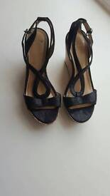Footsies Footsies UK 6 Black Heels Cork Siding