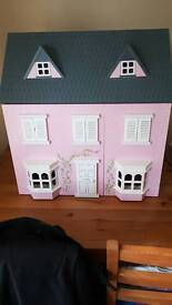 Large pink house