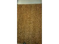 Living room rug, as new..unused gift. Orange and brown mix, 239cm by 152cm