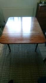 Antique Solid Wood Drop-leaf Dining Table