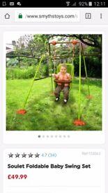 Nursery baby swing