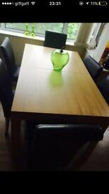 WOW large dining table and 2 large chairs