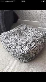 Next grey foot stool