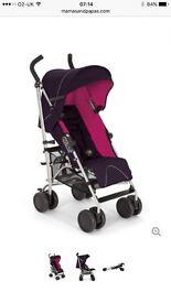 Mamas and papas tour2 pushchair pink/purple