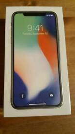Apple Iphone X 256 GB Silver/Brand New/ Unlocked