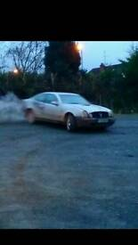 Mercedes clk 320 drift slab diff rwd sideways