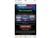 Lockdown festival tickets all available
