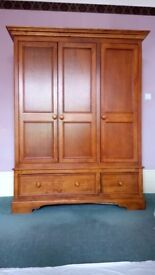 Willis & Gambier solid wood triple wardrobe. Absolute bargain price as need to move.