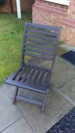 Four Hardwood garden patio chairs four
