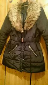 Black coat size 14