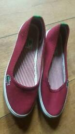 Girls size 5 brand new lacoste shoes never worn