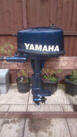YAMAHA 4HP 2 STROKE SHORT SHAFT OUTBOARD FOR DINGHY DINGY TENDER RIB SIB BOAT