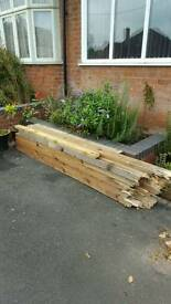 Treated timber fence posts 100mm x 100mm