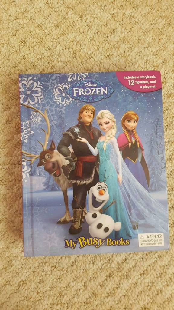 Frozen busy book, with fold out scene & figures