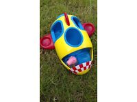 PEEPA PIG plane with wobbly figure, great condition