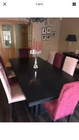 Black Dining Table and Chairs ( Bespoke)