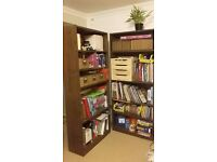 Walnut effect large bookcase (Maine by Argos)