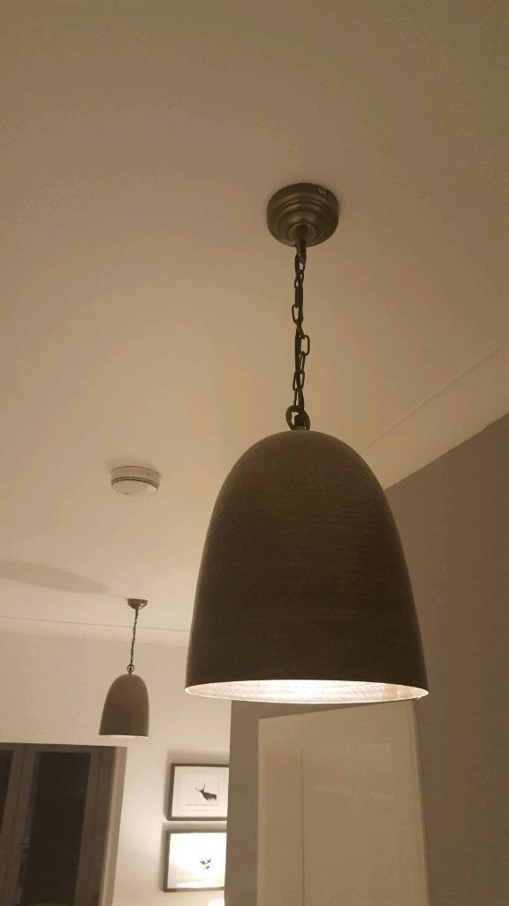 Hammered antique bronze pendant lights
