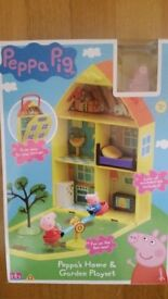 PEPPA PIG: Peppa's Home & Garden Playset - NEW