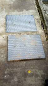 Man hole covers galvanised x 3