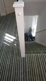 Carpet and vinyl supplied an fitted