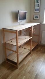 Wooden shelf storage IKEA Ivar pine