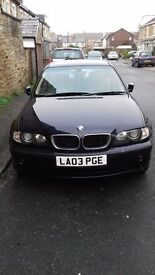 Blue BMW 320d Saloon 03 plate