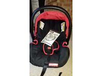 Fisher price car seat used once. In excellent condition, like new with used manual