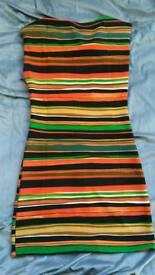 Stripy bodycon dress. Size 10