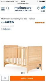 Mothercare cotbed immaculate condition