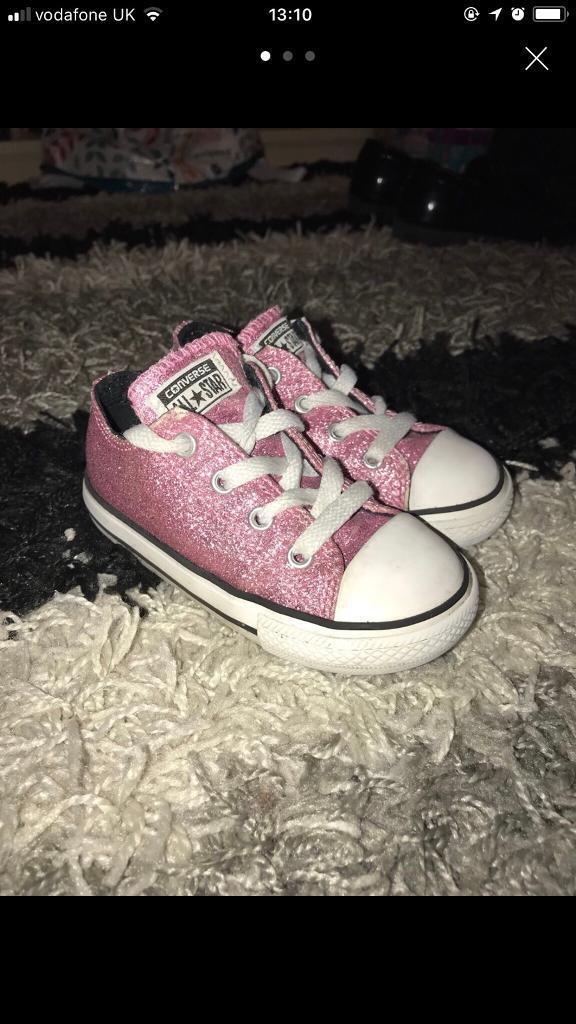 Girls pink glitter comverse
