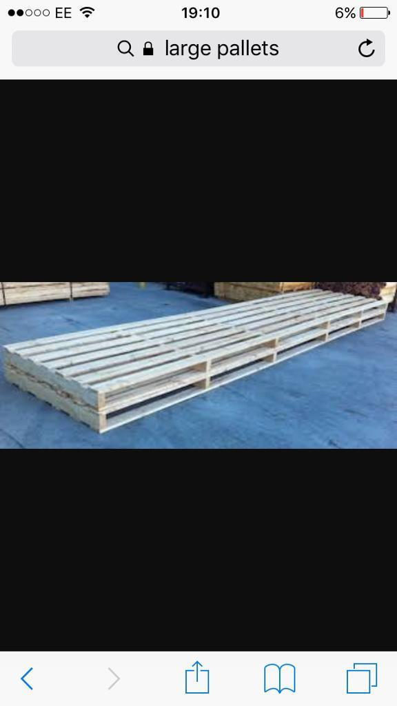 Wanted** large pallets