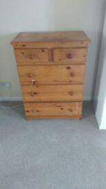 Brown sturdy, chest of drawers