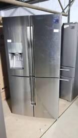 SAMSUNG RF56J9040SR/EU American-Style Fridge Freezer - Real Stainless