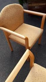 4 dining room carver chairs light OAK