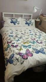 Small Double bed, white
