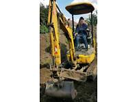 Digger and driver hire excavator and operator hire