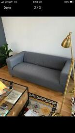 Ikea Grey Klippan Two Seater Sofa Comfortable Good Condition Delivery Possible