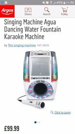 Karaoke machine with dancing water speakers