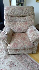 Malvern Armchair. Fully electric recliner.