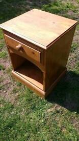 Country pine bedside table