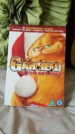 GARFIELD 3 HALARIOUS FILMS GIFT PACK THE MOVIE, GARFIRLD 2, GETS REAL DVD
